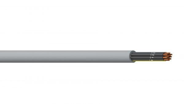 11C+E 0.5mm2 Unshielded PVC/PVC Flexible Control - Grey Sheath