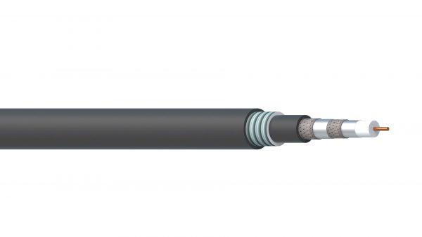 1 Core 18AWG Quad Shield FPE/AIA/PVC ControlNet Coax - Black Sheath