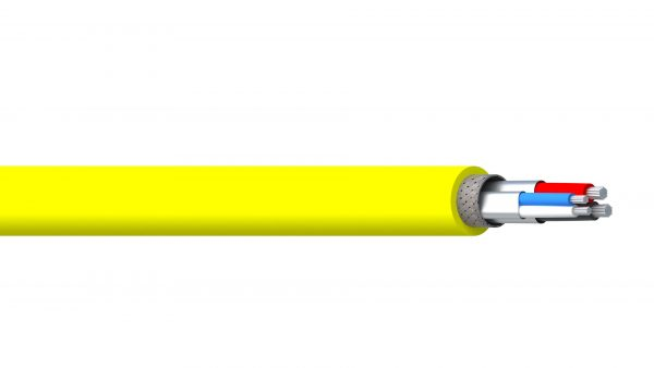 2 Pair 15AWG & 18AWG Ind Foil + Braid PVC & FPE/CPE Thick DeviceNet - Yellow Sheath