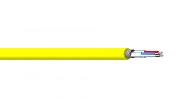 2 Pair 22AWG & 24AWG Ind Foil + Braid PVC & FPE/CPE Thick DeviceNet - Yellow Sheath