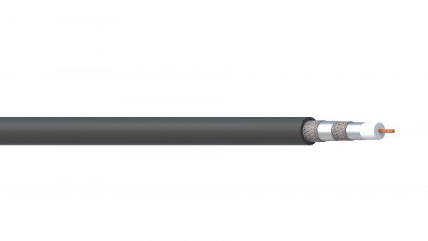 1 Core 18AWG Quad Shield FPE/PVC ControlNet Coax (FLEX) - Black Sheath