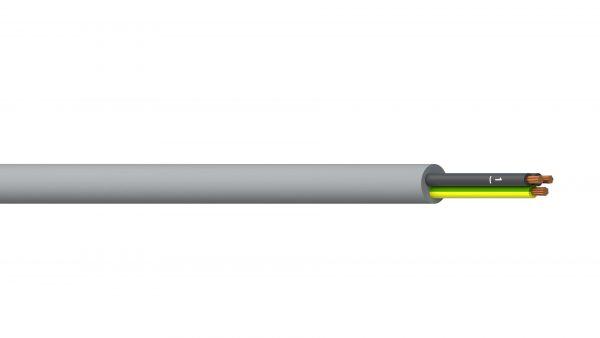 2C+E 2.5mm2 Unshielded PVC/PVC Flexible Control - Grey Sheath