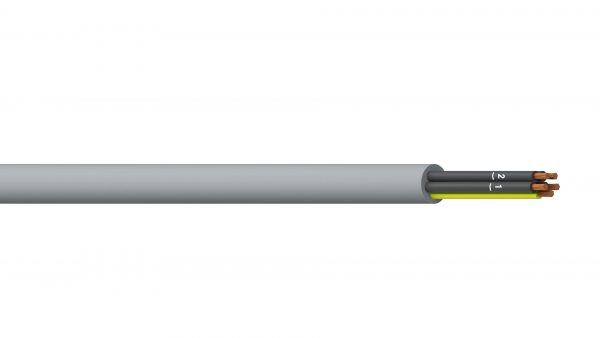4C+E 0.5mm2 Unshielded PVC/PVC Flexible Control - Grey Sheath