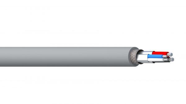 2 Pair 16AWG & 18AWG Ind Foil + Braid PVC-NYL/PVC DeviceNet - Grey Sheath