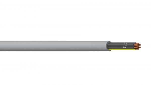 6C+E 2.5mm2 Unshielded PVC/PVC Flexible Control - Grey Sheath