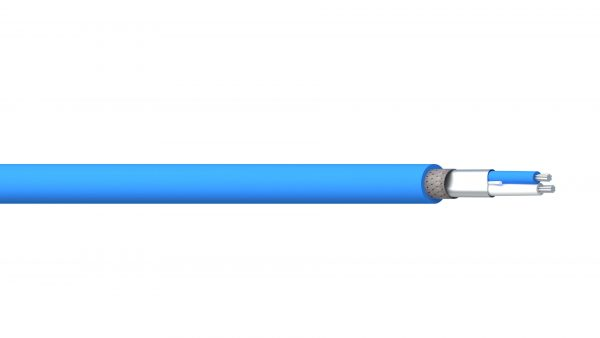2 Core 20AWG Overall Foil + Braid PE/PVC (BLUE HOSE) - Blue Sheath