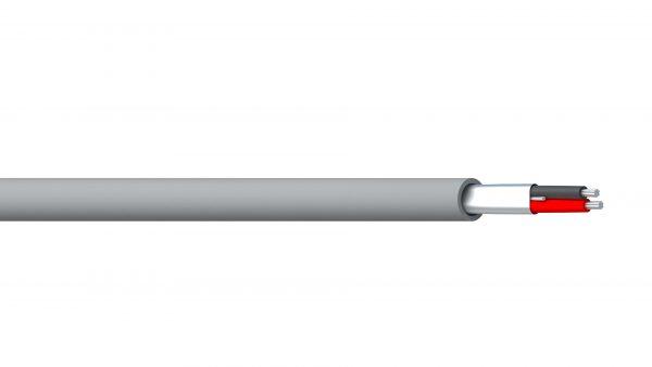 1 Pair 24AWG Overall Foil PVC/PVC RS-232 - Grey Sheath