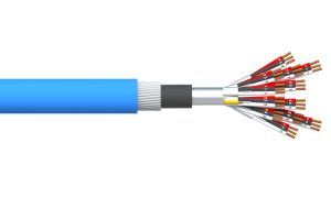 12 Triad 0.5mm2 Ind & Overall Foil PVC/SWA/PVC Dekoron® Instrumentation Cable - Blue Sheath