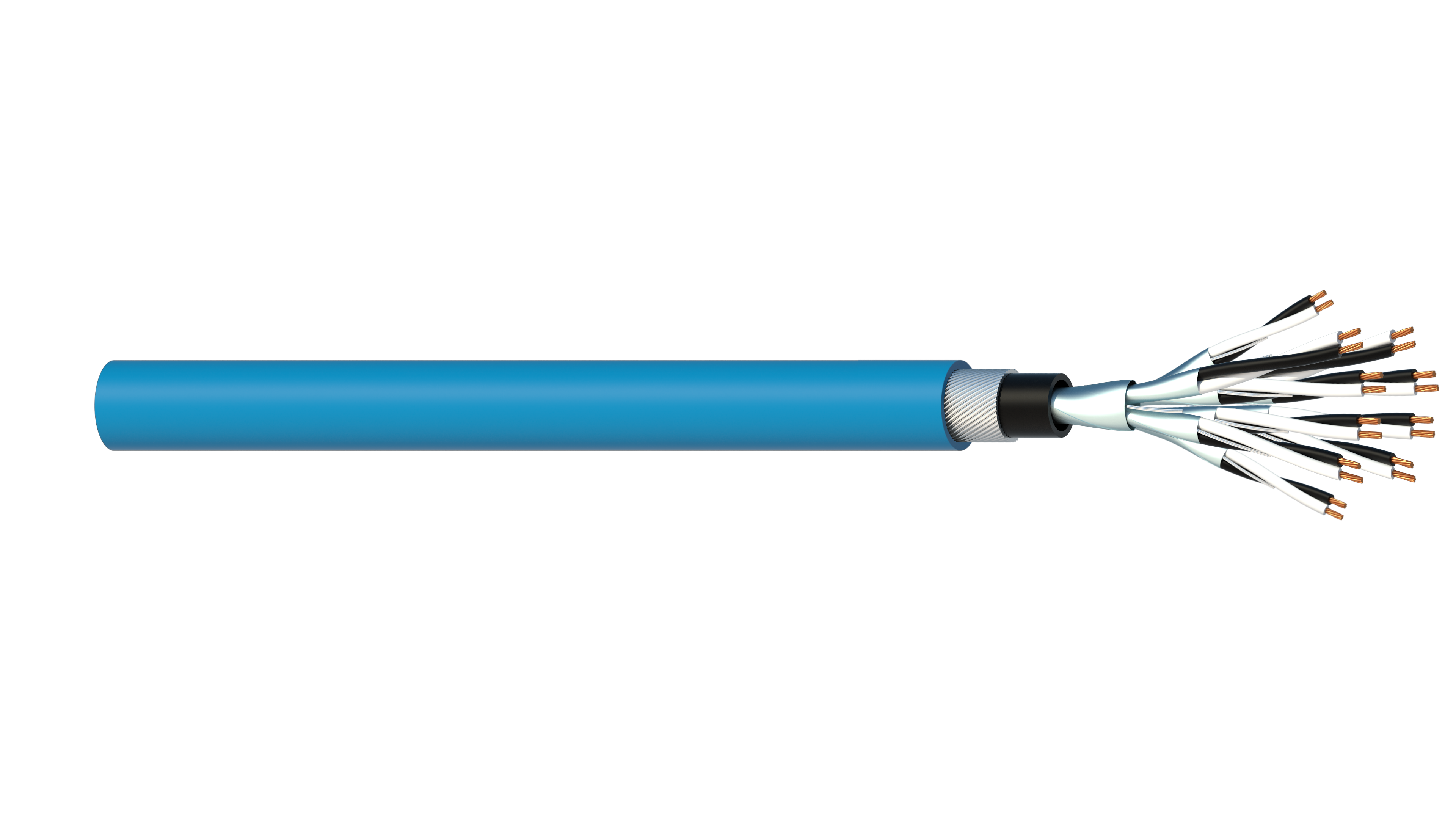 10 Pair 0.5mm2 Cu/PVC/ISOS/PVC/SWA/PVC Maser Instrumentation Cable - Blue Sheath