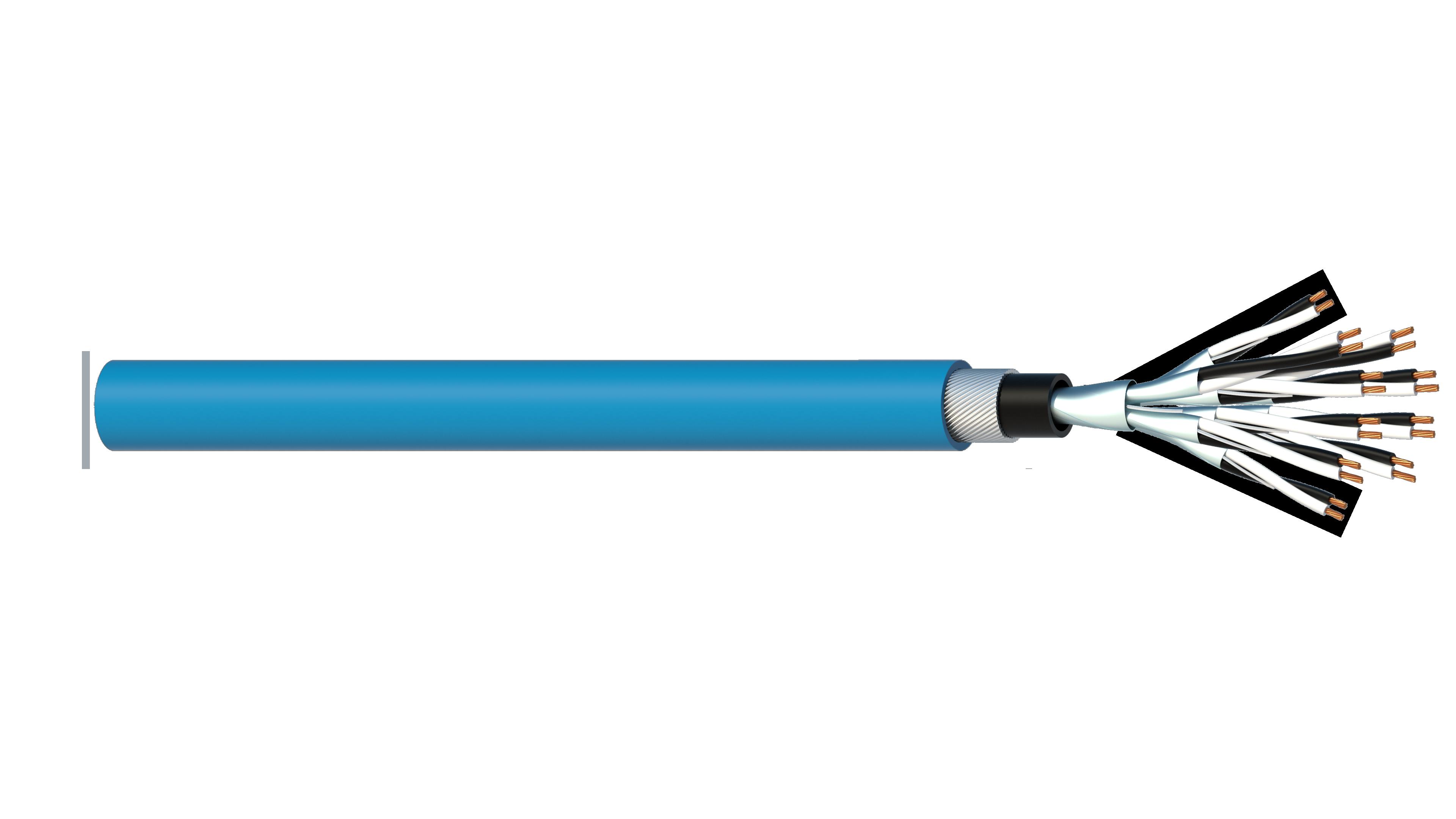 10 Pair 1.5mm2 Cu/PVC/ISOS/PVC/SWA/PVC Maser Instrumentation Cable - Blue Sheath