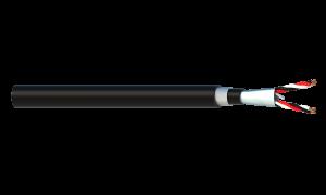 2 Triad 1.5mm2 Cu/PVC/OS/PVC/SWA/PVC Maser Instrumentation Cable - Black Sheath