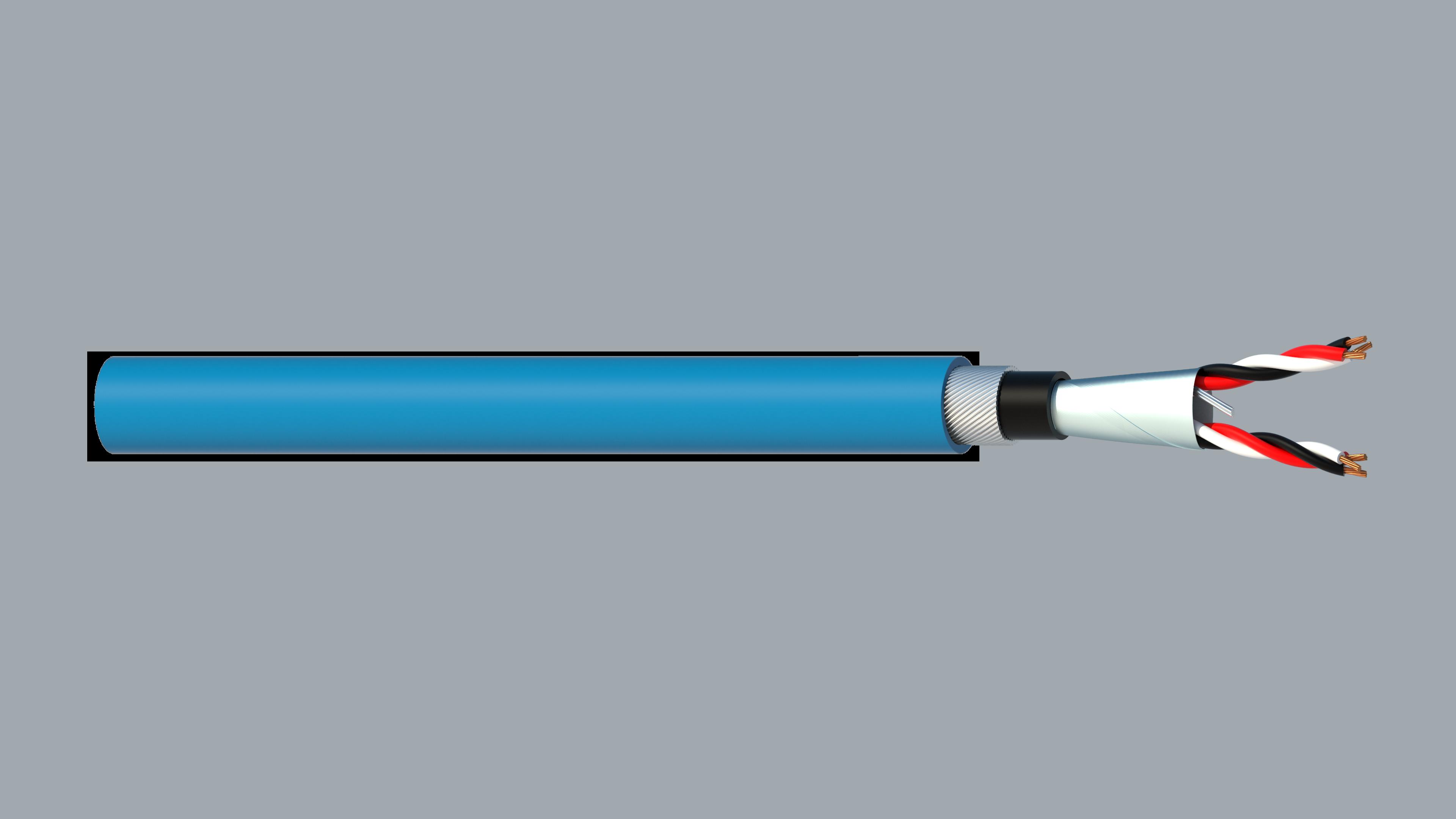 2 Triad 0.5mm2 Cu/PVC/OS/PVC/SWA/PVC Maser Instrumentation Cable - Blue Sheath