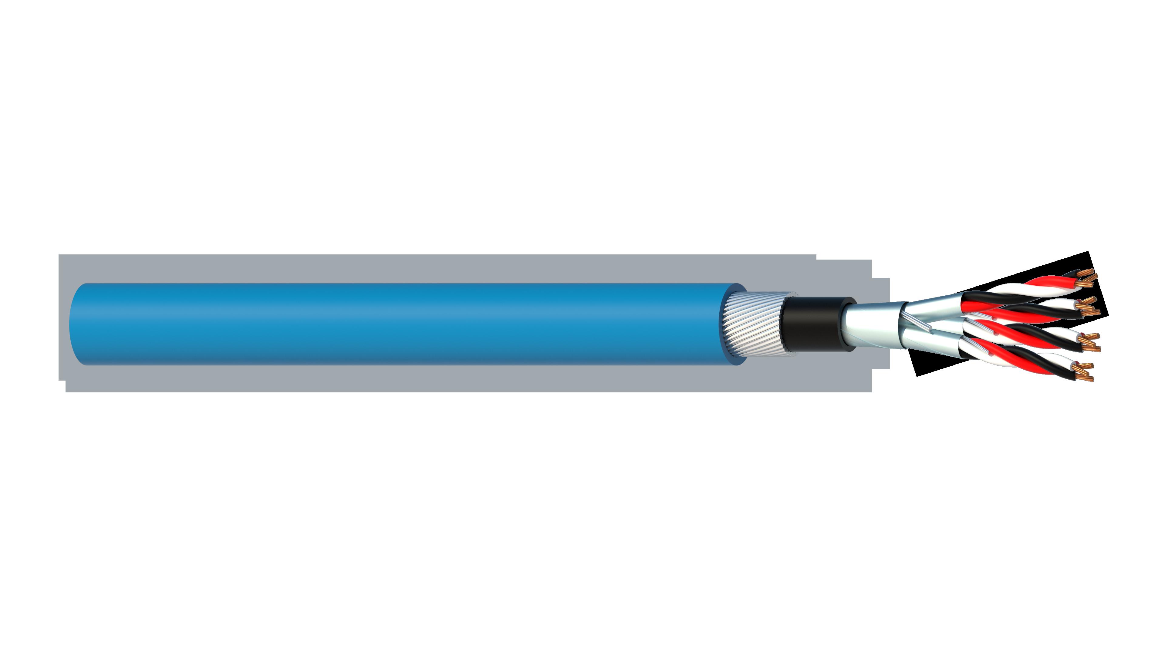 4 Triad 0.5mm2 Cu/PVC/ISOS/PVC/SWA/PVC Maser Instrumentation Cable - Blue Sheath