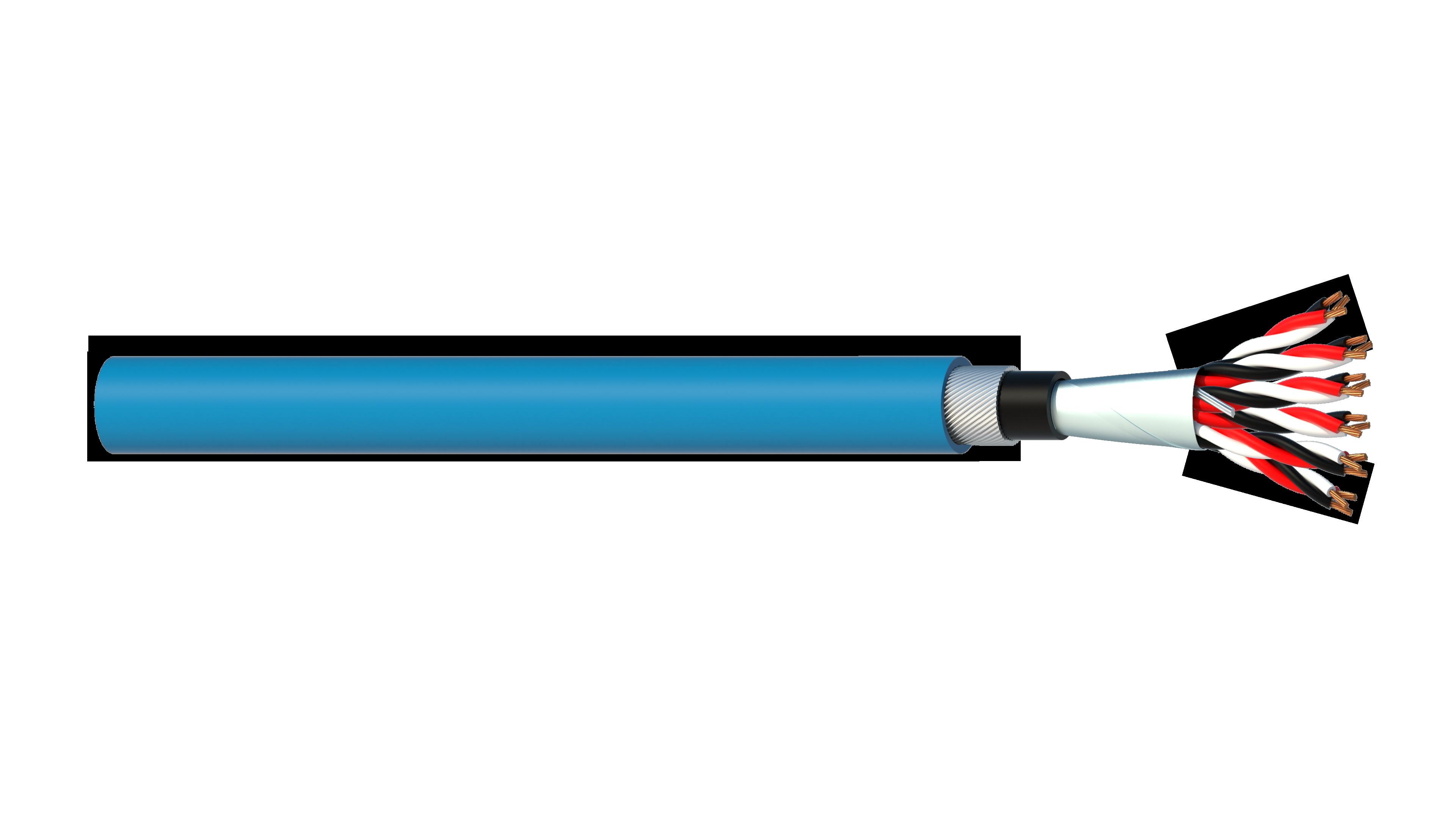 6 Triad 1.5mm2 Cu/PVC/OS/PVC/SWA/PVC Maser Instrumentation Cable - Blue Sheath