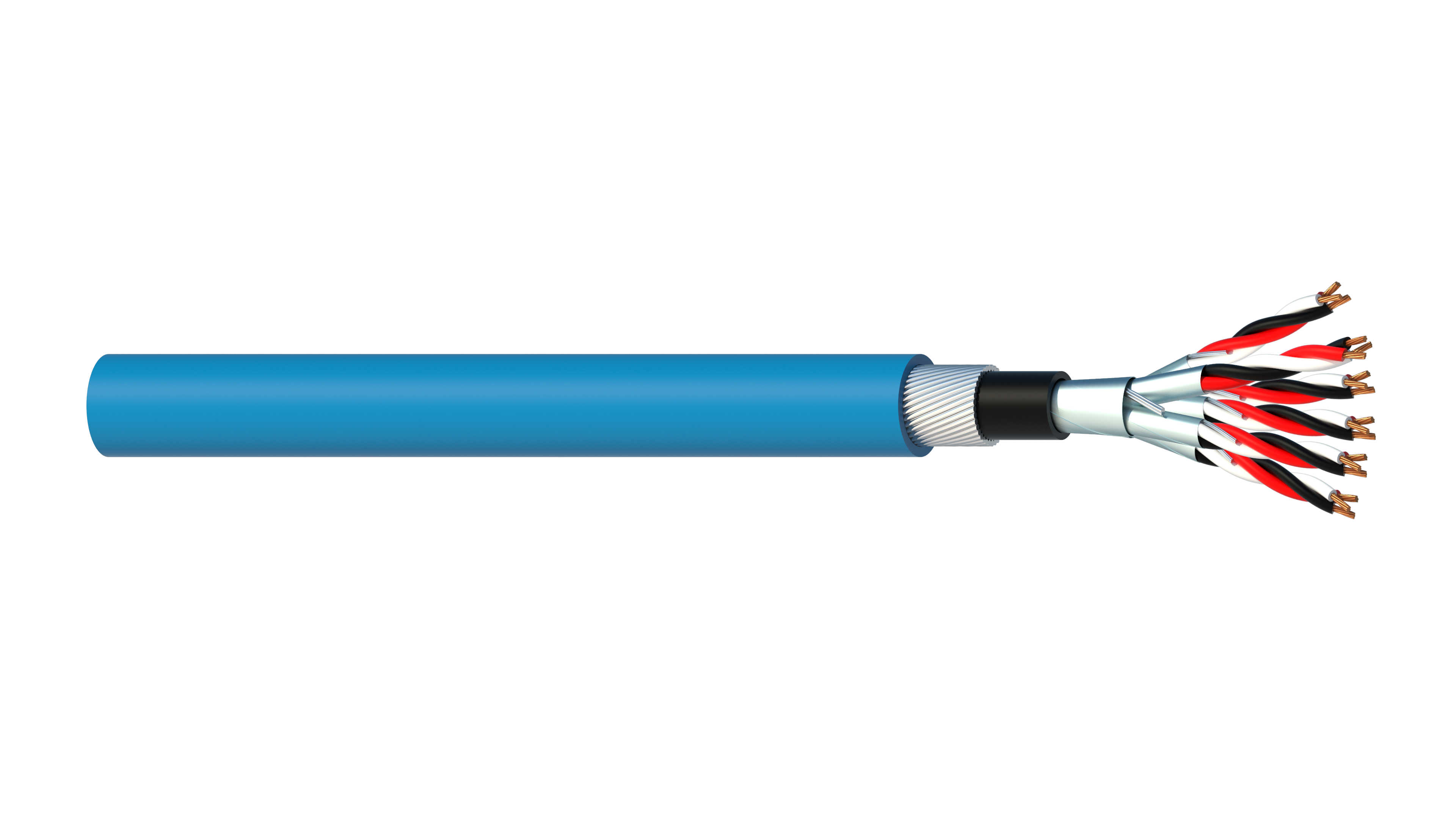 6 Triad 0.5mm2 Cu/PVC/ISOS/PVC/SWA/PVC Maser Instrumentation Cable - Blue Sheath