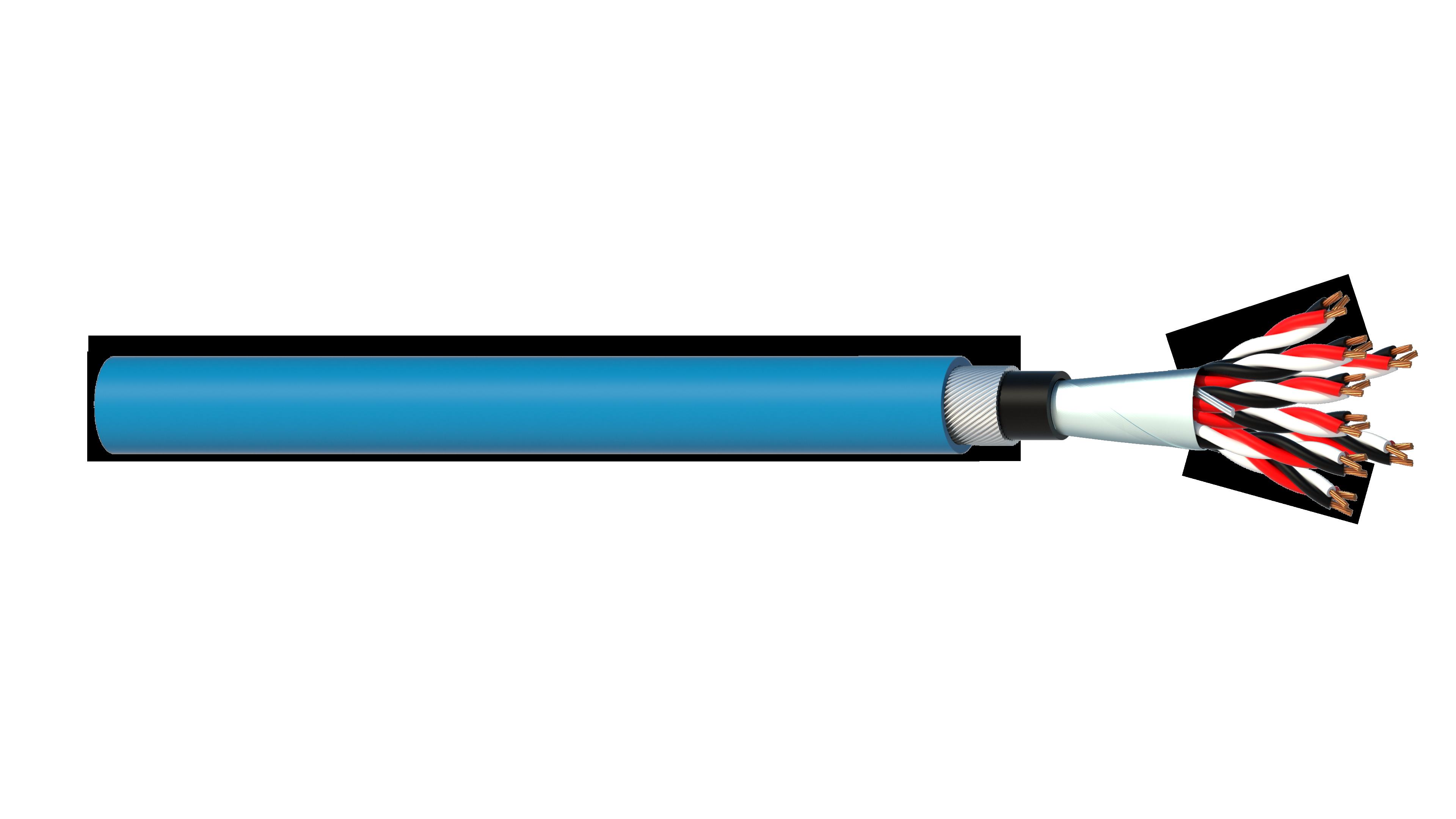 8 Triad 0.5mm2 Cu/PVC/OS/PVC/SWA/PVC Maser Instrumentation Cable - Blue Sheath