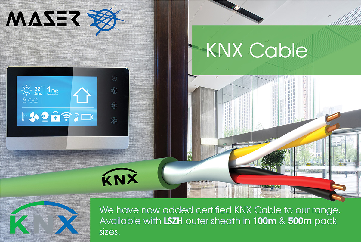 KNX Cable now in stock at Maser
