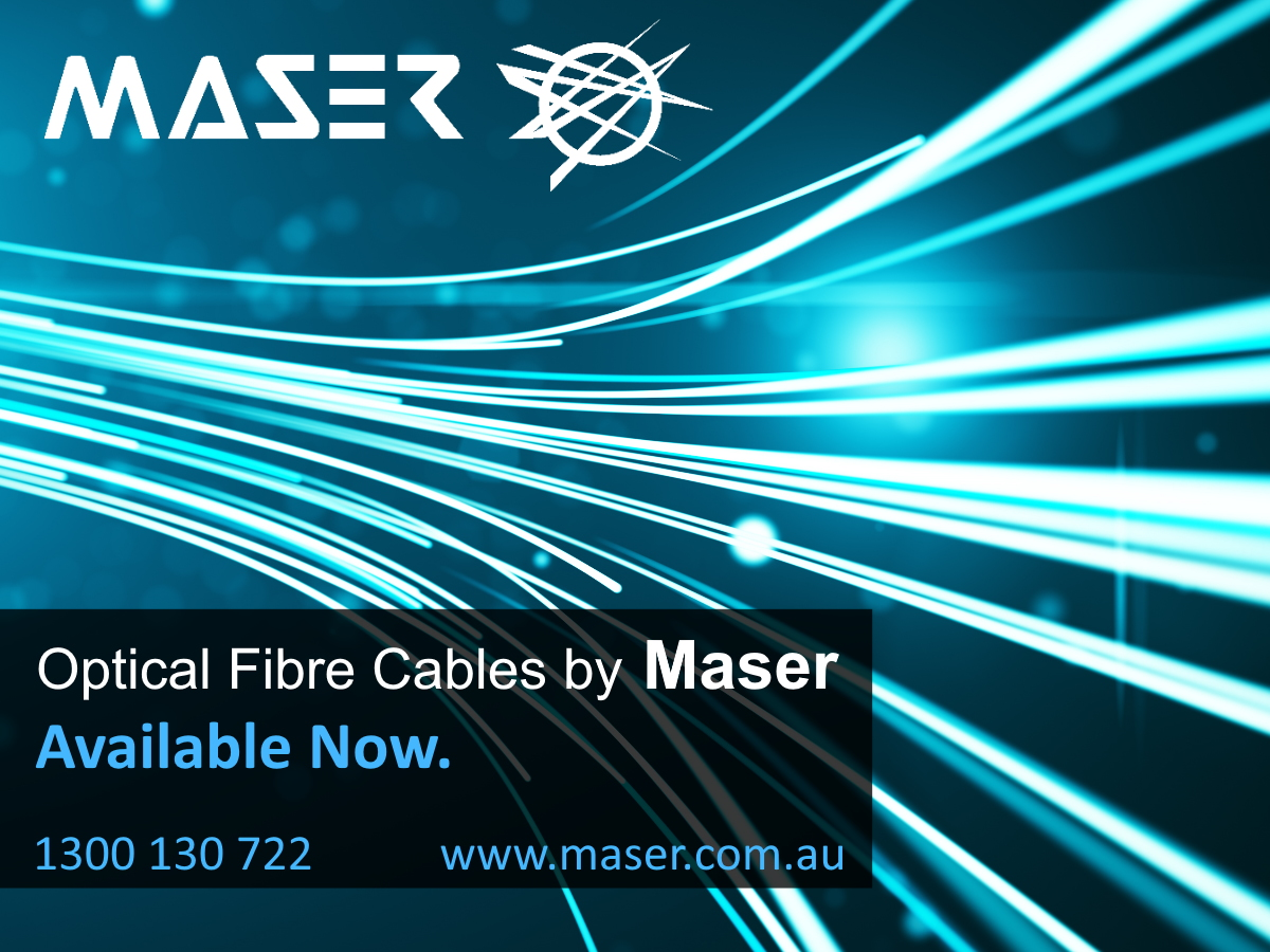 Optical Fibre Cables now available at Maser
