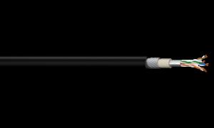 4PR F/UTP Foil Shield SWA Category 6 - Black LSZH