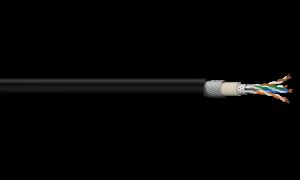 4PR SF/UTP Ind Foil + Braid Shield SWA Category 6A - Black LSZH