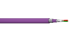 1PR 22AWG Overall Foil + Braid SWA Profibus DP Cable - Violet LSZH
