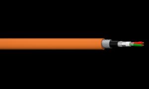 1PR 18AWG Overall Foil + Briad SWA Profibus PA Cable - Orange LSZH