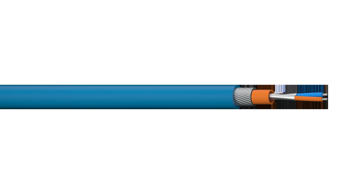 1PR 18AWG Overall Foil SWA Fieldbus Cable - Blue Sheath