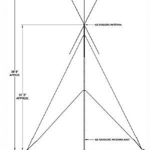 Broadband, omni-directional ground-based 30 - 88 MHz antenna