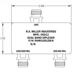 "Dual band diplexer - all ports ""N"" female"