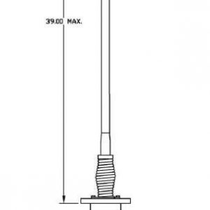 Vehicular 1755 - 1815 MHz and 2200 - 2270 MHz antenna