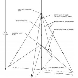 """Telescoping mast kit that extends from approximately 5'6"""" to 27' tall"""