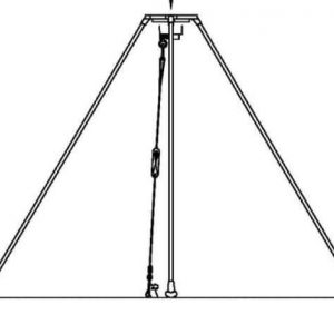 Tripod used to mount any antenna with a standard NATO mount