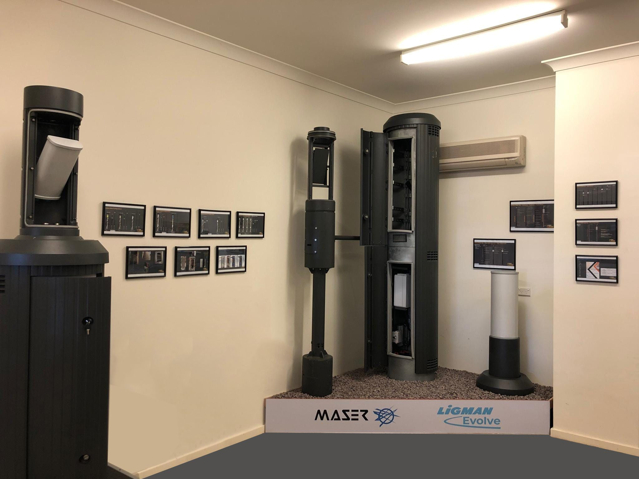 Maser unveil our new Ligman Evolve smart pole display in our Sydney office